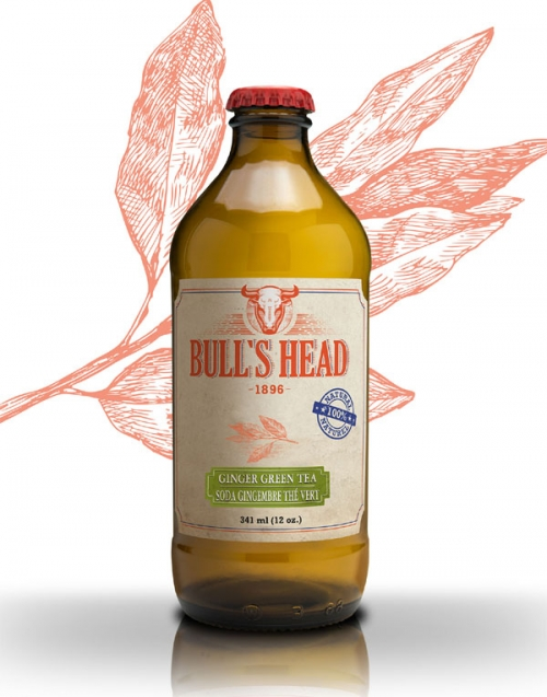 Bull's Head ginger green tea