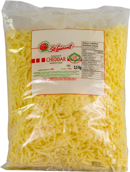 St-Laurent grated white cheddar